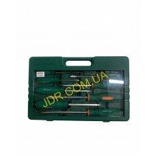 Набір викруток ударних, силових під ключ, шлиц та хрест, 10 предметів D70PP10S x4698