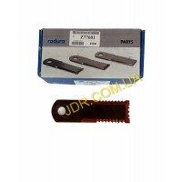 Ніж подрібнювача соломи, пряме, тристороннє, зубчасте, червоне 42232 (Z77601) x4755